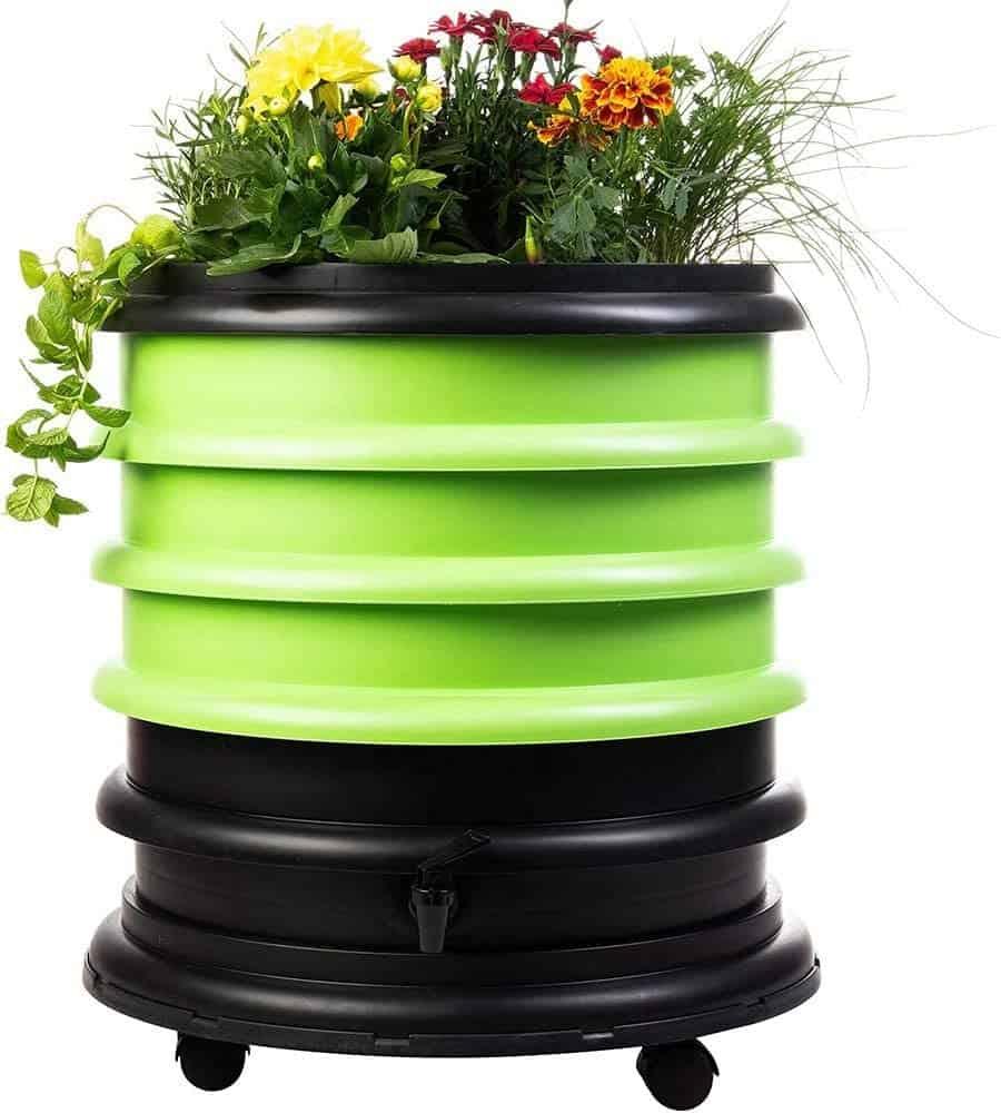 Le composteur d'appartement le plus coloré : le lombricomposteur WormBox plateaux et jardinière